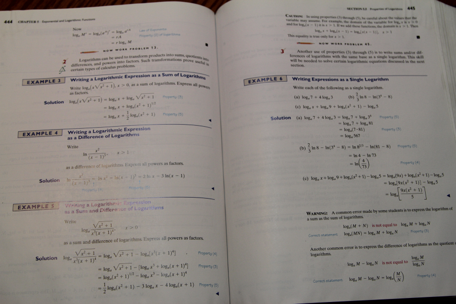 An older math book, lots of examples