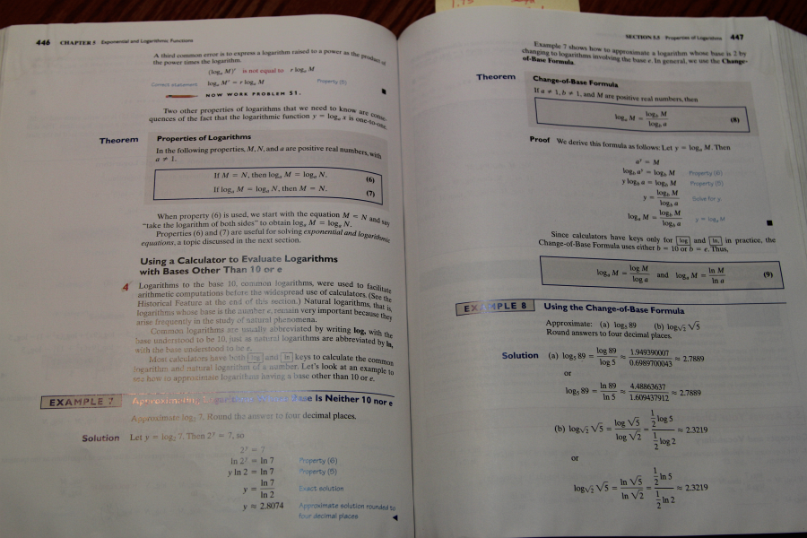 An older math book, the examples continue