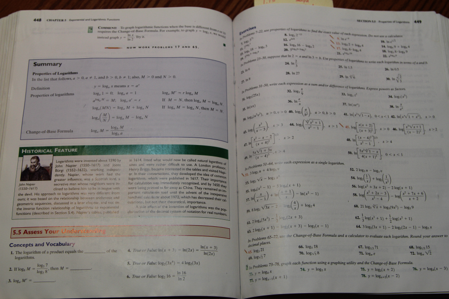 An older math book, lots of examples, and lots of problems to work through.